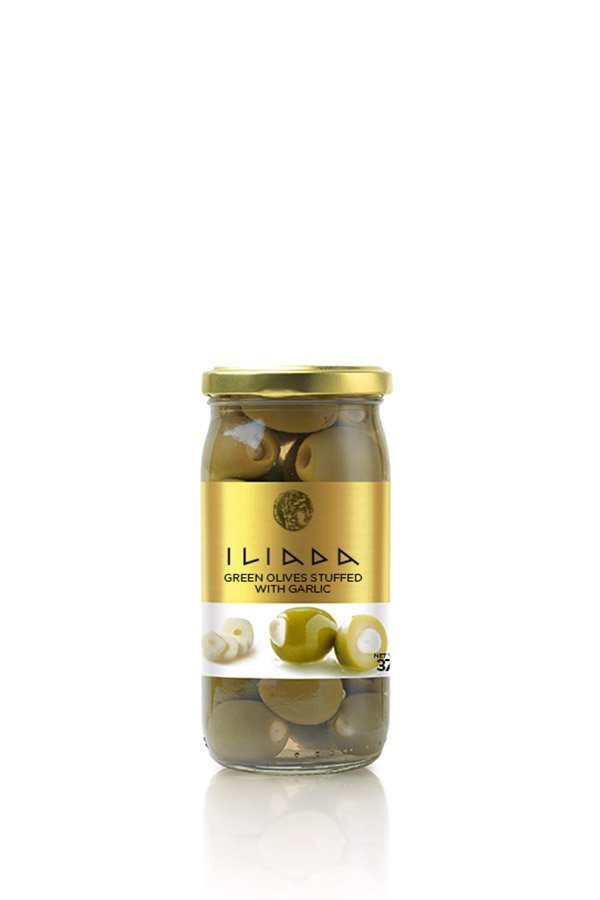 ILIADA Green Olives Stuffed with Garlic