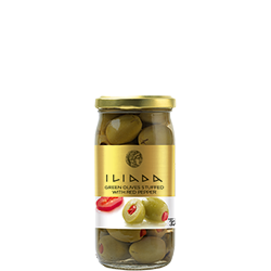 ILIADA Green Olives Stuffed with Pepper