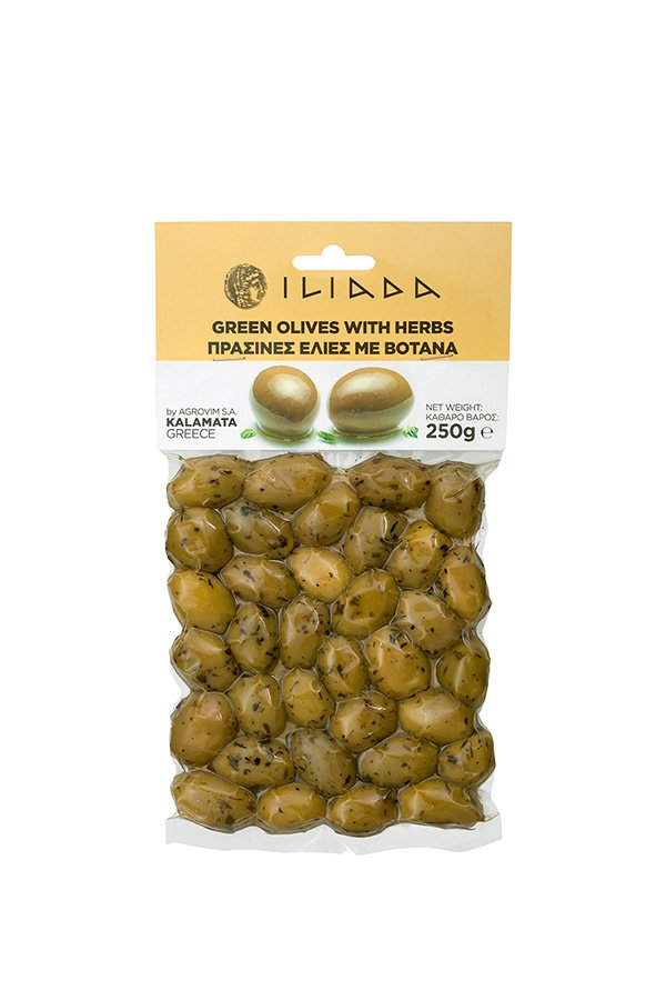 ILIADA Green Olives with Herbs