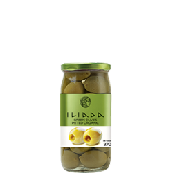 ILIADA Emerald Organic Green Olives Pitted