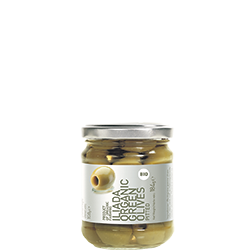 ILIADA Platinum Organic Green Olives Pitted