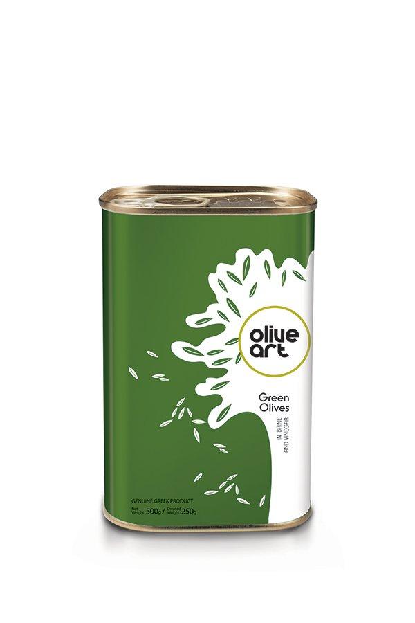 OLIVE ART Green Olives