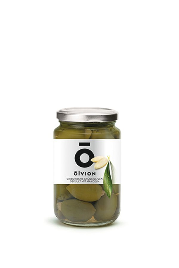 OLVION Green Olives Stuffed with Almonds