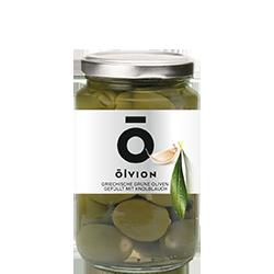 OLVION Green Olives Stuffed with Garlic
