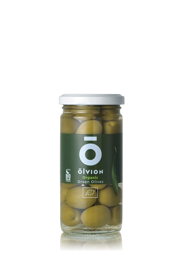 OLVION Organic Green Olives